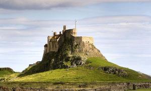 Lindisfarne Castle on Holy island