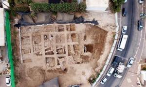 Remains of the citadel, Nahariya, Israel.