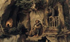 'A Player with a Hermit' by Moritz von Schwind