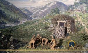 Diorama showing trephination in Neolithic times (Wellcome Images / CC BY-SA 4.0)