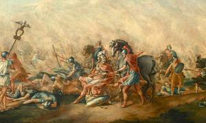 The Battle of Cannae was a major battle of the Second Punic War that took place on 2 August 216 BC in Apulia, in southeast Italy. The army of Carthage, under Hannibal, surrounded and decisively defeated a larger army of the Roman Republic