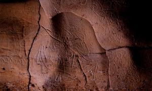 Paleolithic rock art found on walls of Font Major Cave near L'Espluga de Francolí        Source: Generalitat de Catalunya