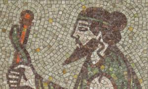 Asclepius – a fragment of mosaic bathroom in Kyustendil, Bulgaria.