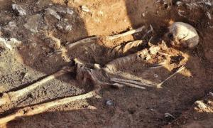 "The skeleton of the Rollright Stone ""witch"" (News Team International photo)"