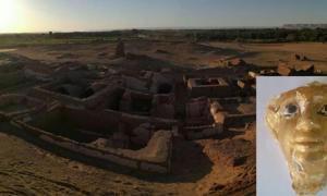 The five Roman tombs found at the Beir Al-Shaghala site in the Dakhla Oasis of Egypt's Western Desert.