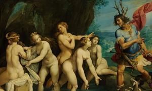 Roman mythology from Ovid's Metamorphoses – Diana and Actaeon by Giuseppe Cesari