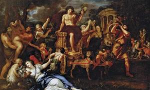 The Roman god Bacchus