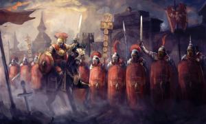 A Roman legion and its general.