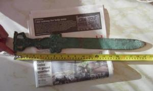 The Roman sword found just off Oak Island.