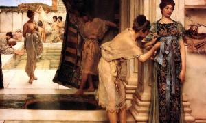 Roman women bathing