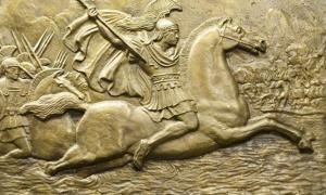 Relief carving of Alexander the Great.