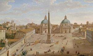 Roma: Piazza del Popolo by Hendrik Franz van Lint.
