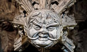One of the best 'Green Man' carvings in Rosslyn Chapel.