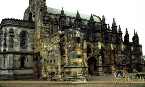 Rosslyn Chapel Founded in the early 15th century by Wm. St. Clair, Earl of Orkney
