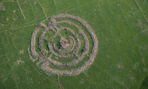 The prehistoric megalith Rujm el-Hiri.