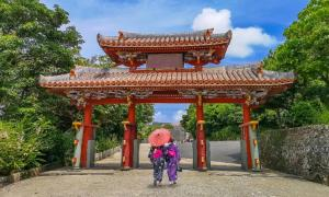 Shureimon Gate in Shuri castle, home to the former Ryukyu Kingdom, in Okinawa. Source: f11photo /Adobe Stock