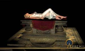 Sacrificial virgin on altar. (heywoody / Adobe)