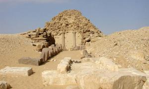 The ruins of Sahure's pyramid