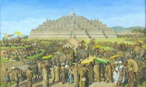 Ancient Sailendra dynasty in Java - Reconstructing the scene of Borobudur