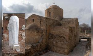 Agia Kryiaki Church. Inset: Saint Paul's Column.
