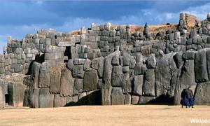 The megalithic stone walls of Saksaywaman