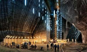 A view of the Rudolf Mine in the Salina Turda.