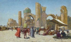 A view of the Bibi-Khanum Mosque, Samarkand.