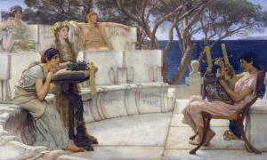 'Sappho and Alcaeus' (1881) by Lawrence Alma-Tadema.