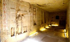 "This 4,400-year-old tomb at Saqqara was constructed for a ""divine inspector"" named ""Wahtye."""