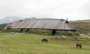 A Scandinavian feasting hall