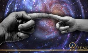 'Creation of Man', (Public Domain) Cosmos (Public Domain); Deriv.