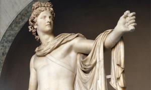 Sculpture portraying Greek god Apollo