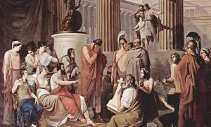 Odysseus at the court of Alcinous