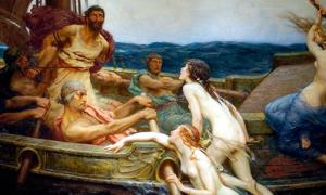 Ulysses (Odysseus) and the Sirens, circa, 1909 by Herbert James Draper.