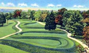 Postcard image of the Serpent Mound, Ohio