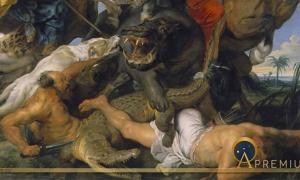 Hippopotamus and Crocodile Hunt by Peter Paul Rubens, (1616) (Public Domain)