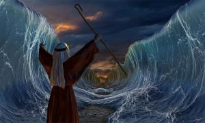 The origins of the Jewish festival Shavuot's traditions are obscure. But what if they could be linked to Pharaoh Akhenaten, offering a new view on Moses? Pictures: Representation of Moses' famous crossing of the sea. 	Source: Vlastimil Šesták / Adobe stock