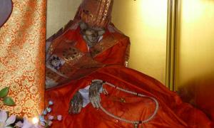 The body of Shinnyokai Shonin, found in Oaminaka, Japan. He had practiced self-mummification.