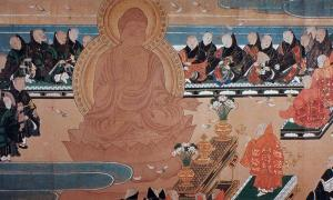 Shinto painting from manuscript of Todaiji, Nara, Japan