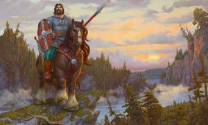 Siberian warlord horseman