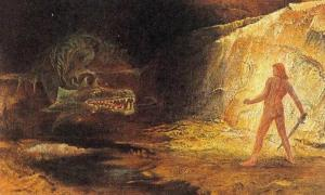 Sigurd and Fafnir (Public domain). Fáfnir was a son of the dwarf king Hreidmar. After being affected by the curse of Andvari's ring and gold, Fafnir became a dragon and was slain by Sigurd.