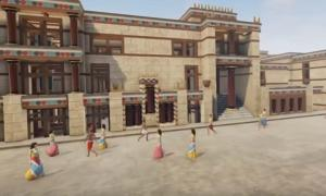 Reconstruction of the Palace at Knossos