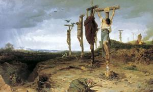 Place of execution in ancient Rome. The crucified slaves. Fedor Andreevich Bronnikov, 1878.