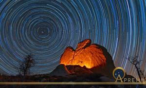 Argimusco - Star Trail behind the Eagle Monolith (ildiora/ Adobe Stock)
