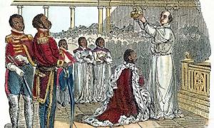 An 1811 wood engraving depicts the coronation of King Henry. Source: Fine Art America