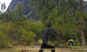 Le Morne Brabant, UNESCO world heritage site with depiction of a runaway slave.