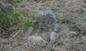 Small grave at the Children's Fort in Tullycrine, Ireland