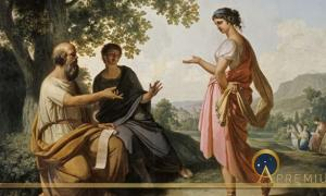 Socrates in conversation with Diotima by Franz Caucig  (1755–1828)