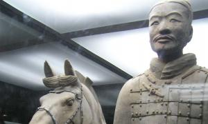The terracotta warrior that was damaged whilst on loan to Franklin Institute in Pennsylvania.