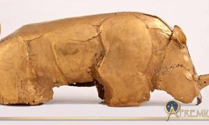 The Mapungubwe Gold Rhinoceros